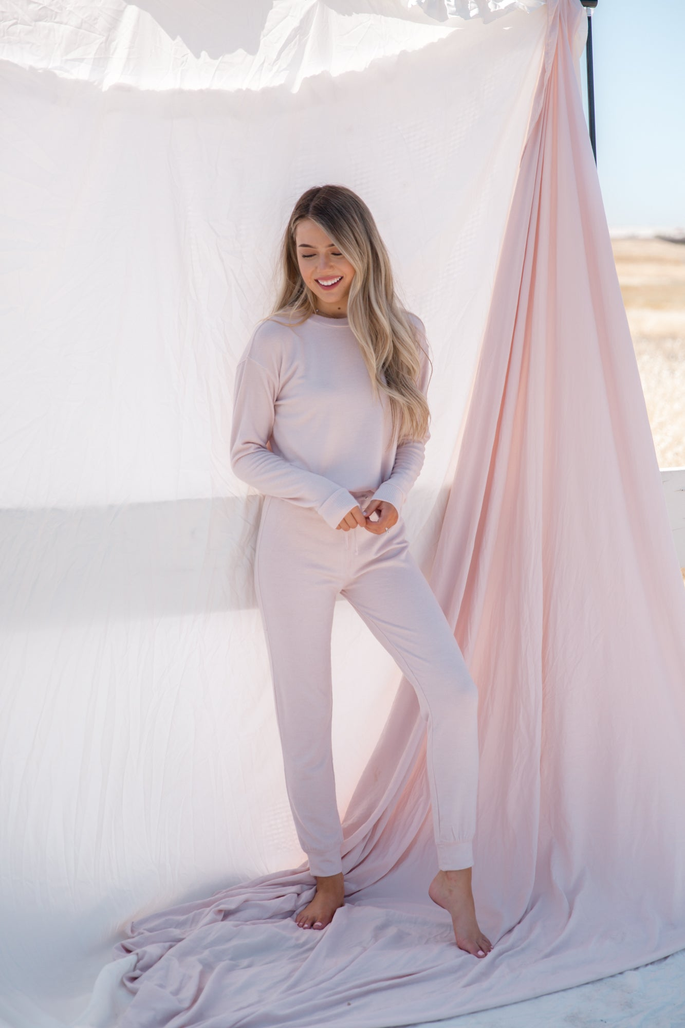 Seriously Cozy Blush Lounge Joggers