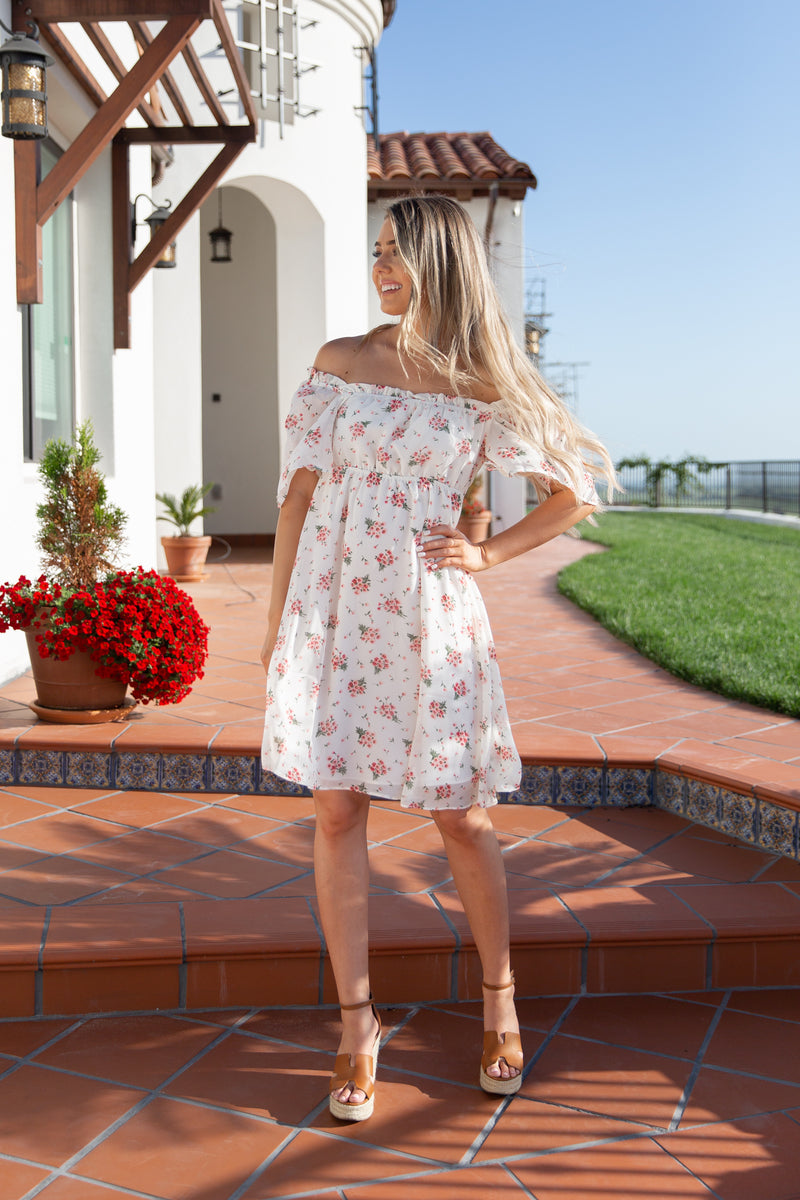 Evelyn Floral Ruffle Dress - llacie