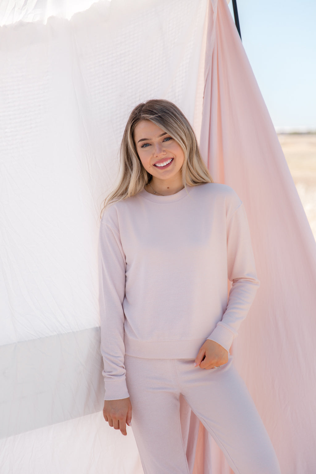 Seriously Cozy Blush Lounge Sweater