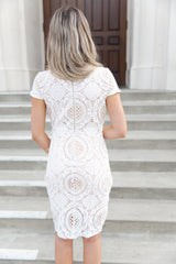 Mia White Crochet Dress