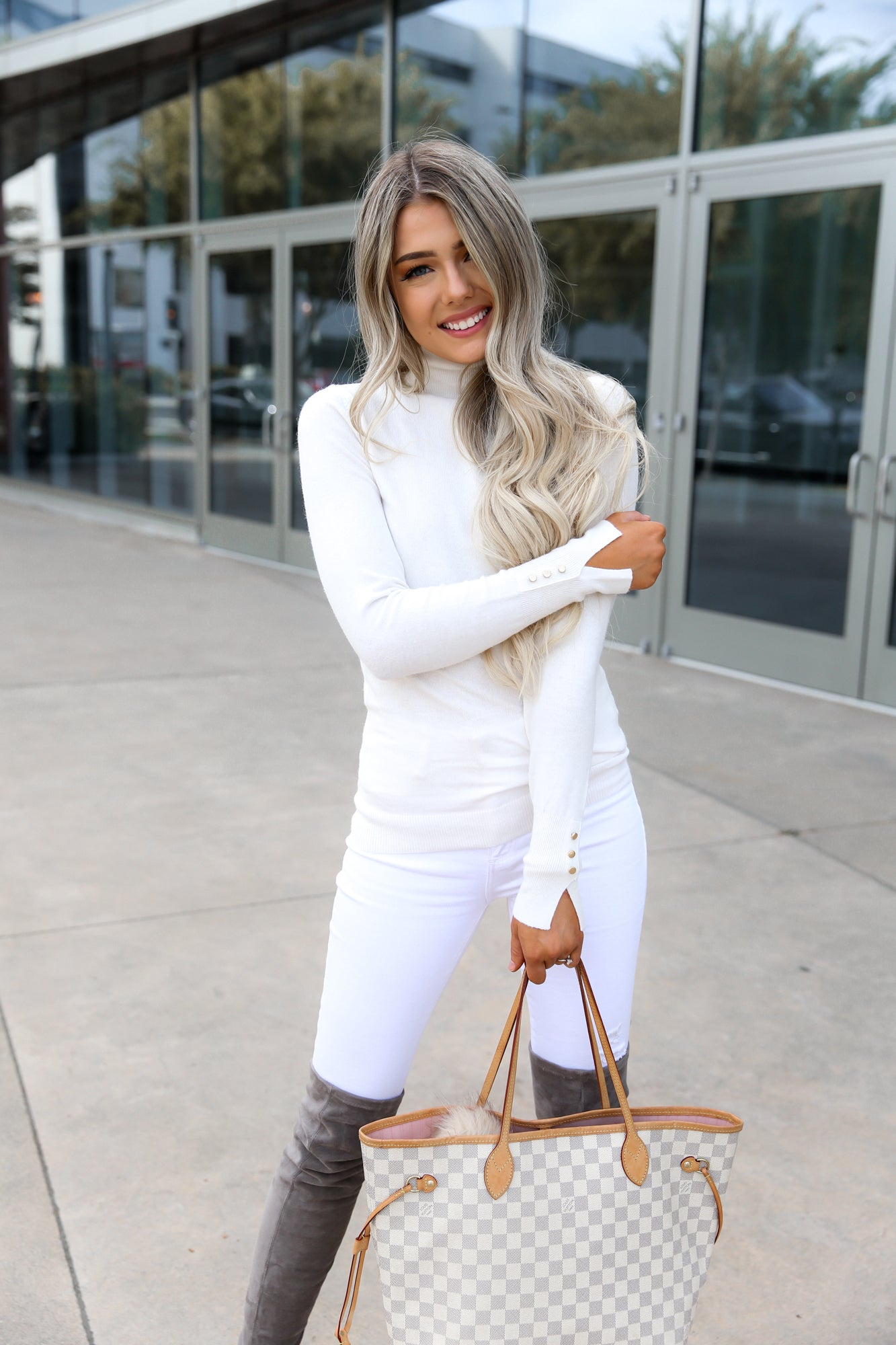 White Fitted Long Sleeve