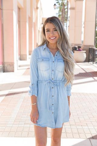 Effortless Denim Dress - llacie