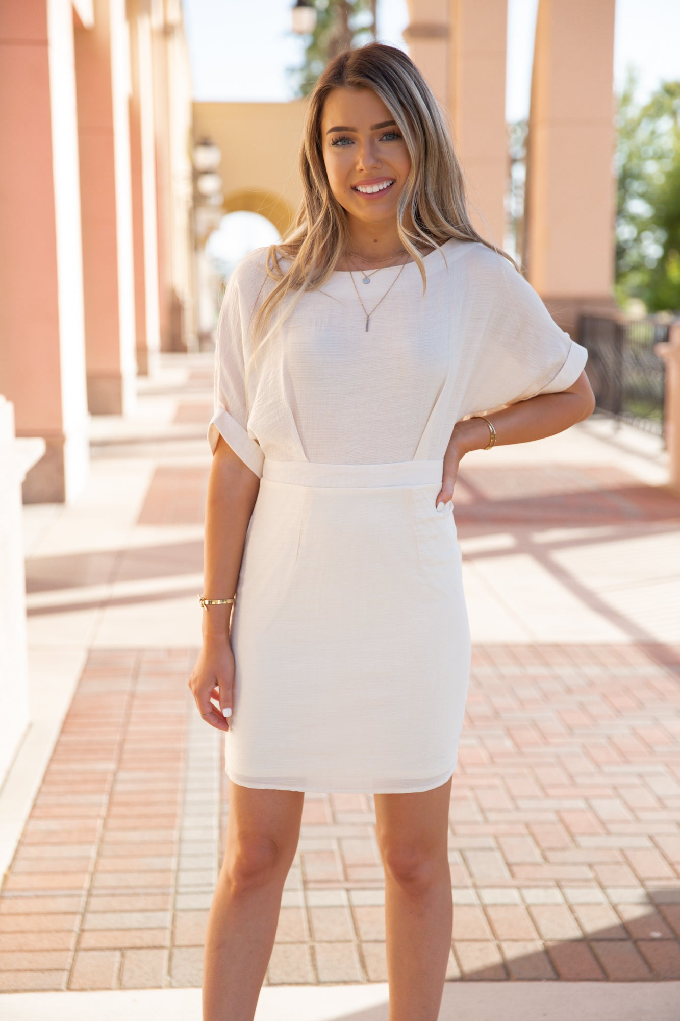 Day Out Beige Dress - llacie