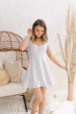 Sweetheart Neck Smocked Dress- FINAL SALE