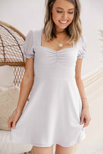 Sweetheart Neck Smocked Dress
