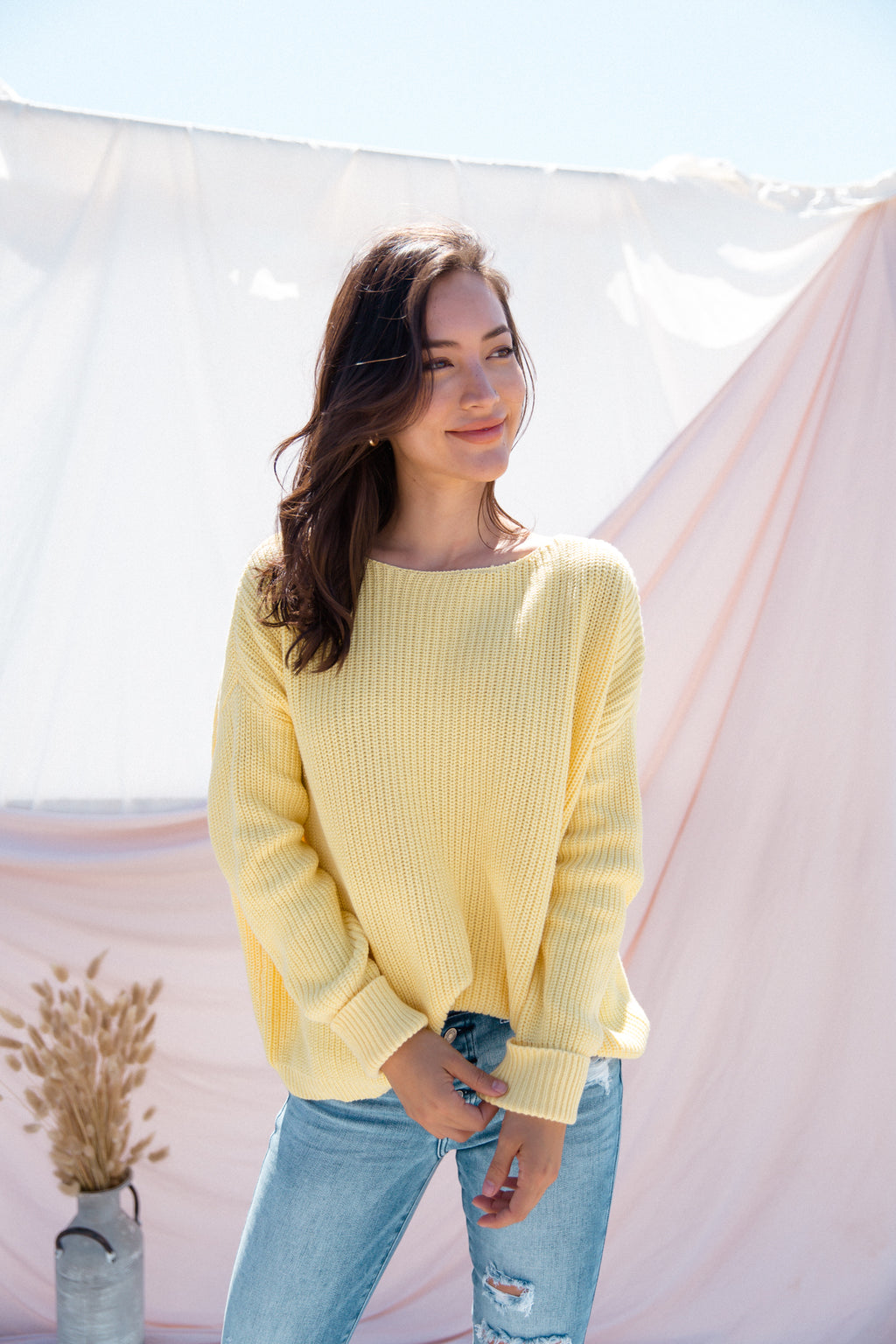 Canary Sweater- FINAL SALE