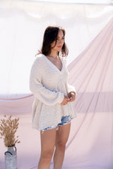 Sweet Cream Babydoll Sweater