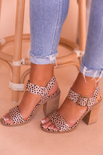Cheetah Block Heeled Sandal- FINAL SALE