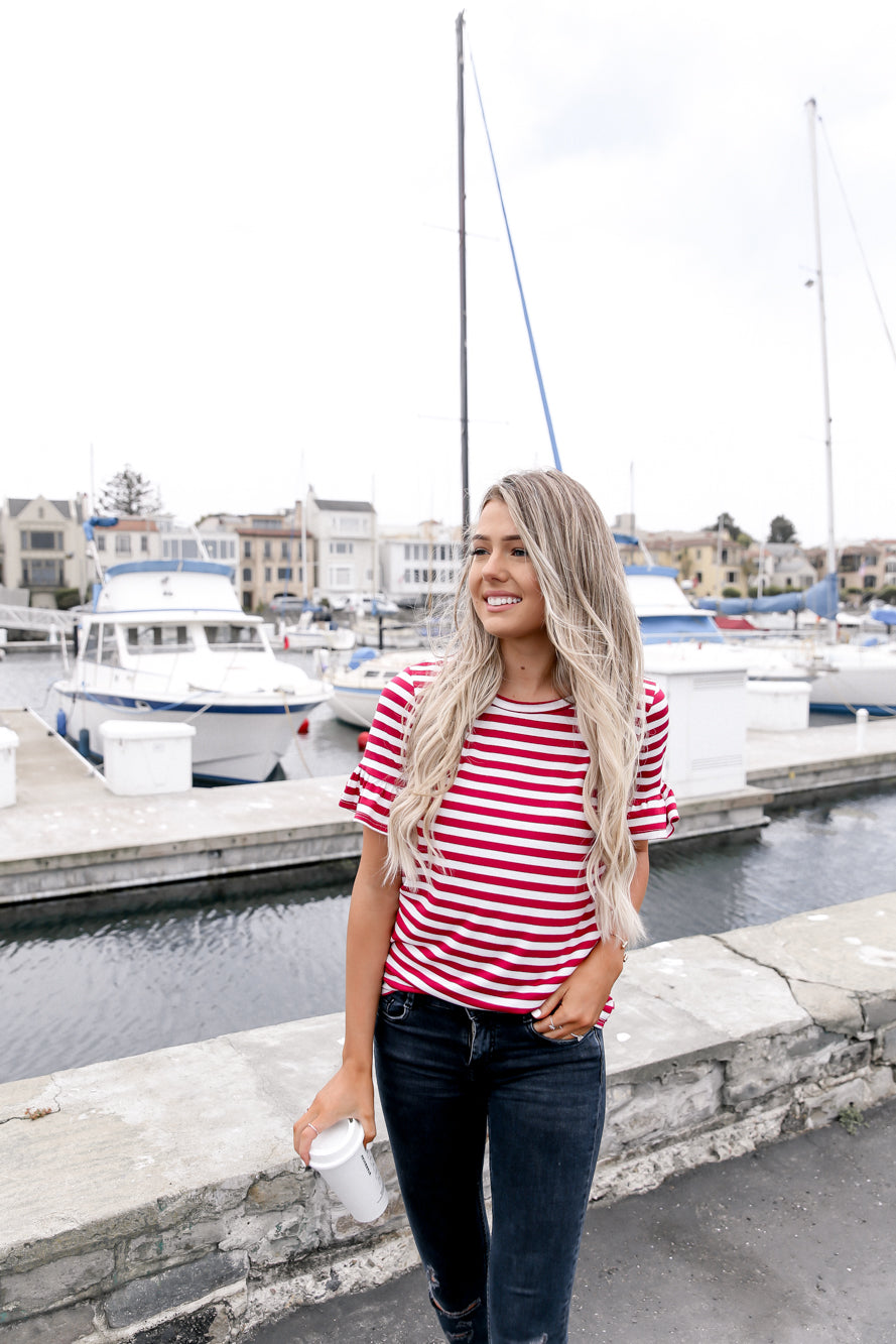 Sea Day Stripe Top