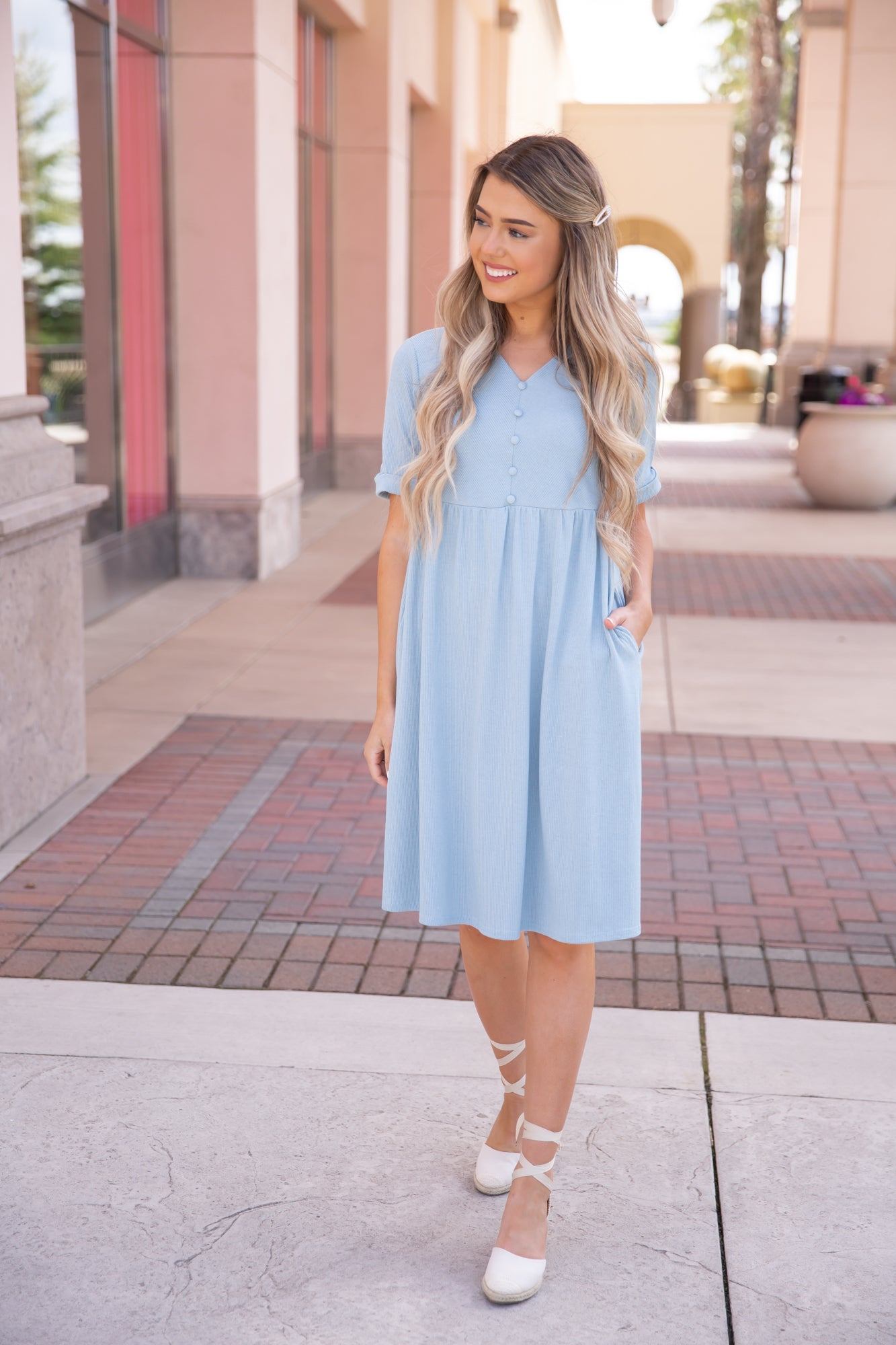 Something About Blue Midi Dress - llacie