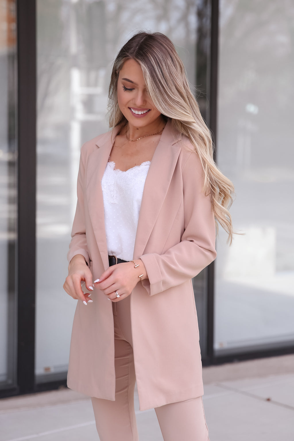 Jacie Nude Blazer- FINAL SALE