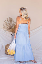 Blue Heart Midi Dress- FINAL SALE | LLACIE