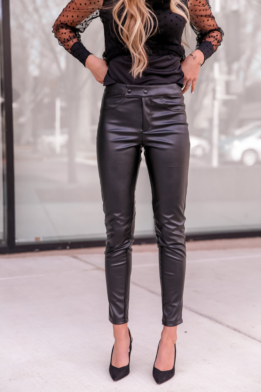 Stella Black Skinny Leather Pants- FINAL SALE