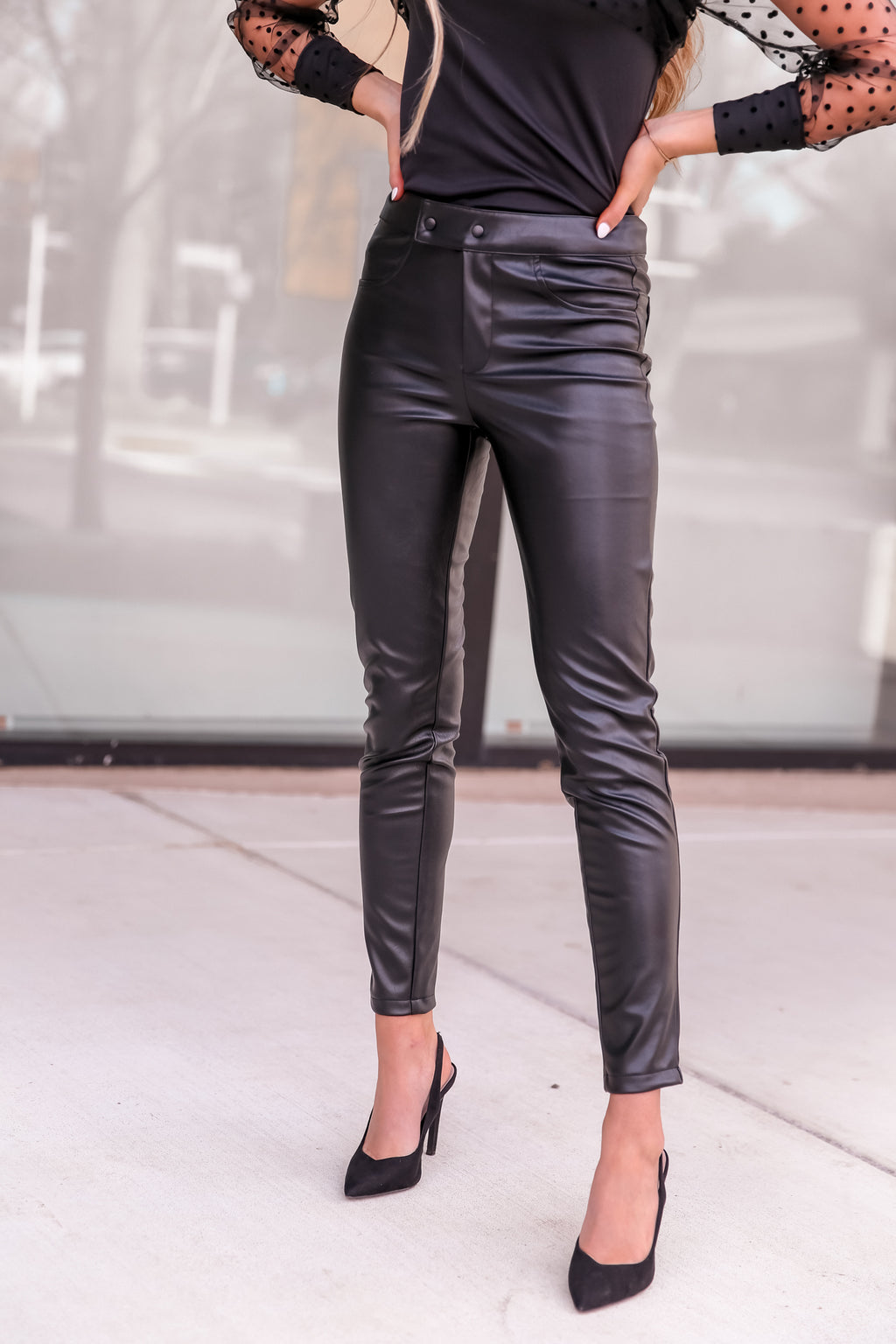 Stella Black Skinny Leather Pants