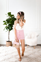 POPPY BOW TIE SHORTS