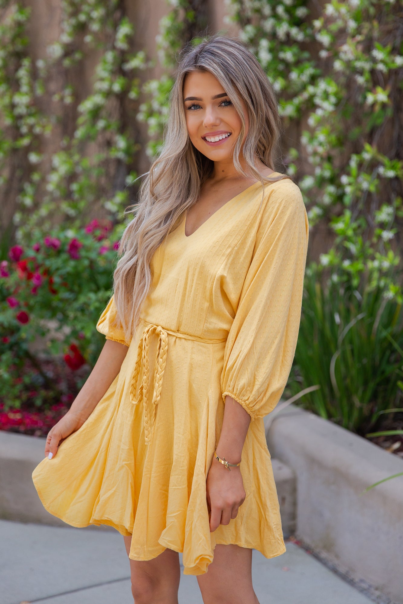 Perfect Time Yellow Dress - llacie
