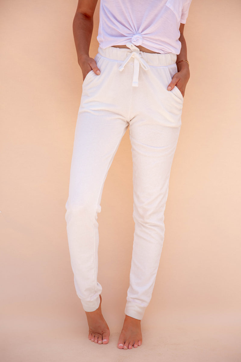 With Style White Joggers- FINAL SALE