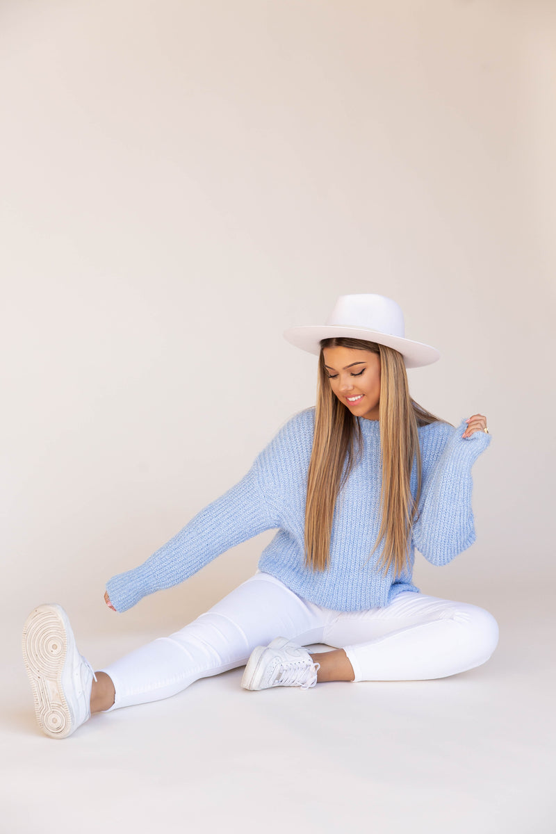 A Gem Fuzzy Brushed Sweater | LLACIE