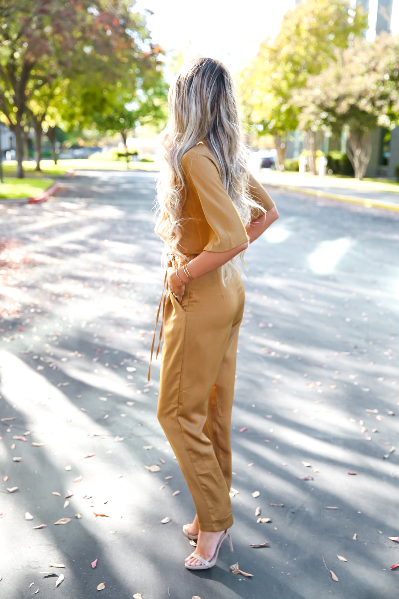 Mustard Satin Jumpsuit