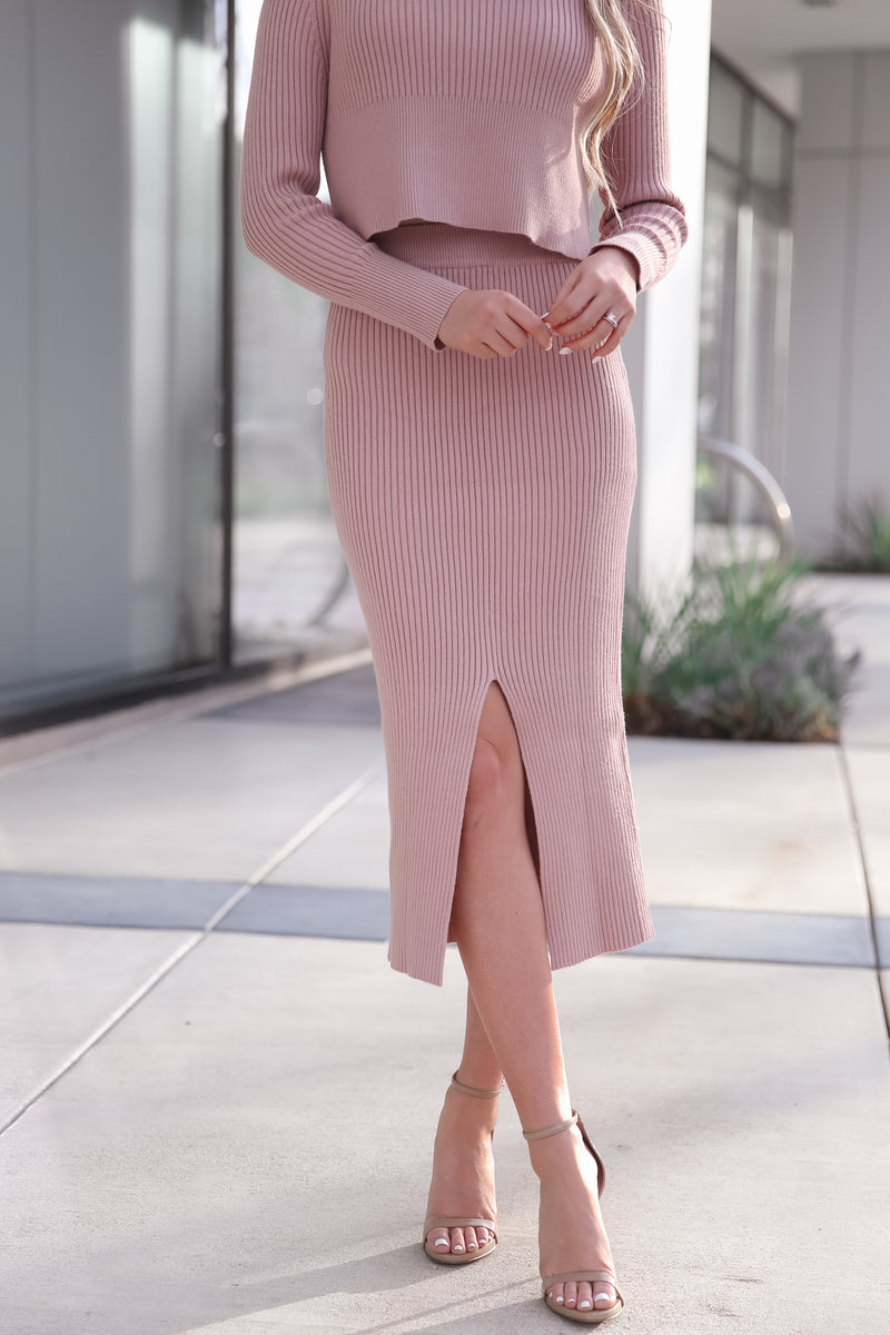 Lucy Ribbed Skirt