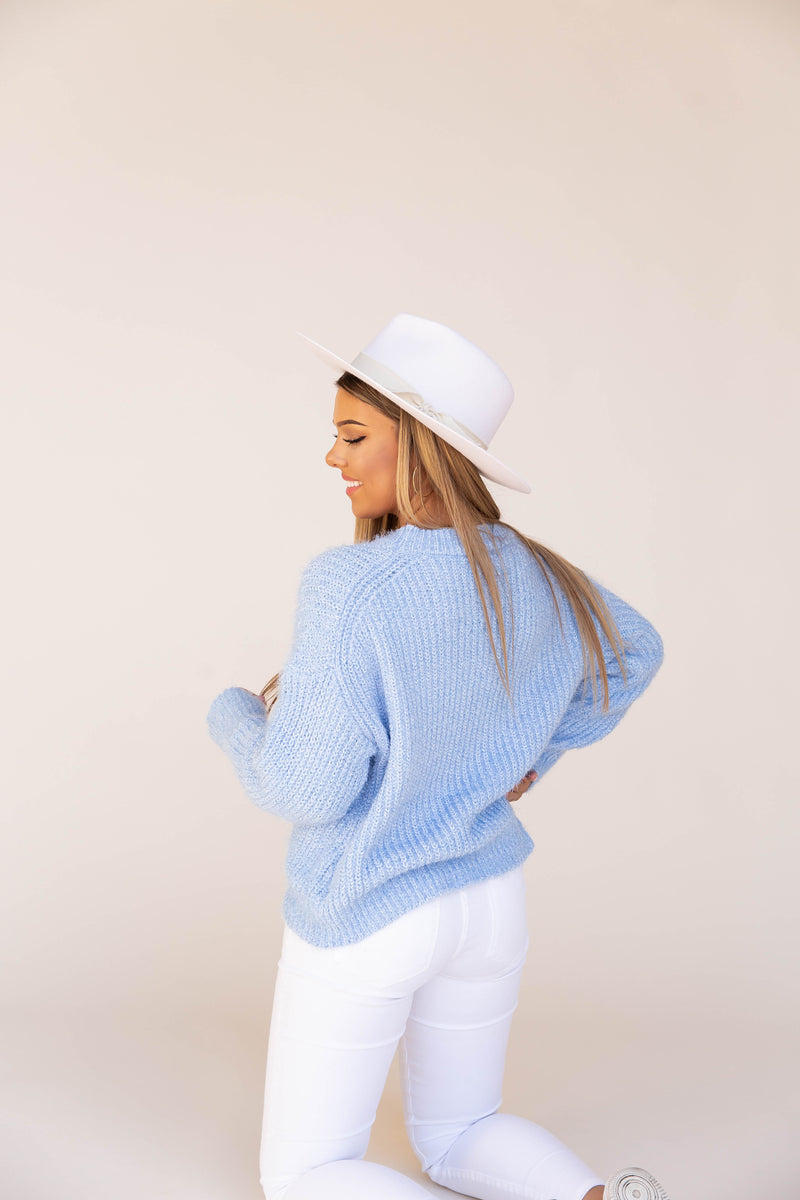 A Gem Fuzzy Brushed Sweater
