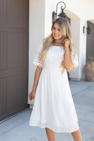 Always Wanted Lace White Dress