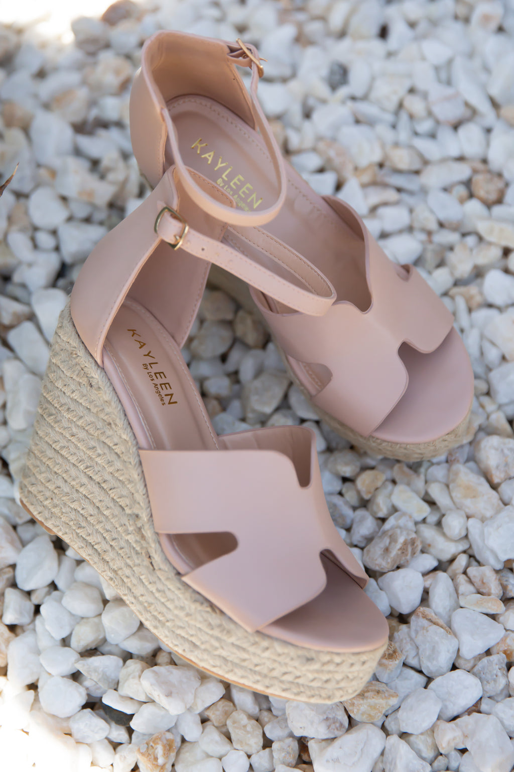 Blush H Wedges- FINAL SALE