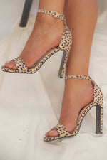 Cheetah Strap Heel- FINAL SALE