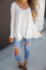 Cloud White Long Sleeve Tee
