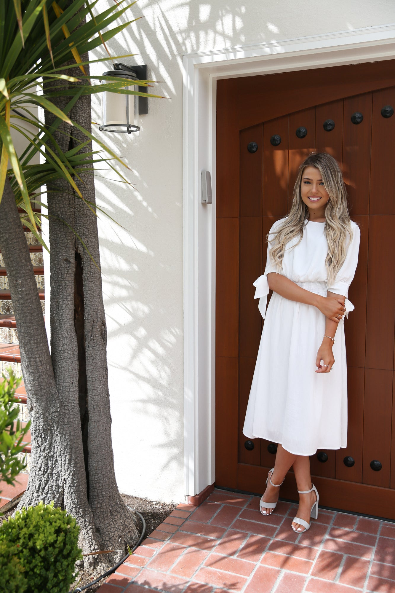 Mykonos White Midi Dress - llacie