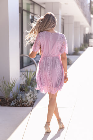 Tara Lace Lavender Dress