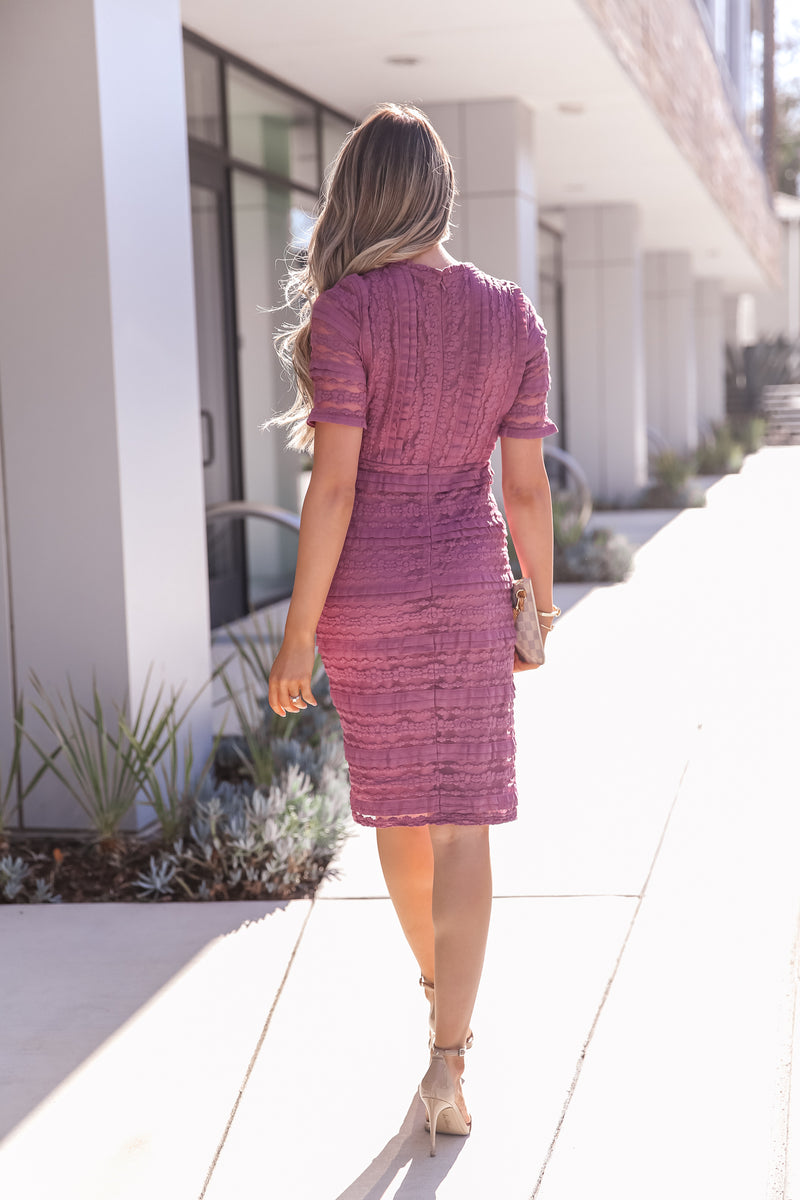 Ruthie Purple Lace Dress