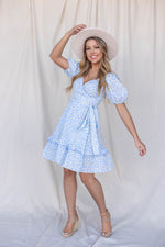 Sweetheart Blue Floral Dress - LLACIE