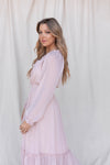 Capture a Heart Taupe Long Sleeve Dress - LLACIE