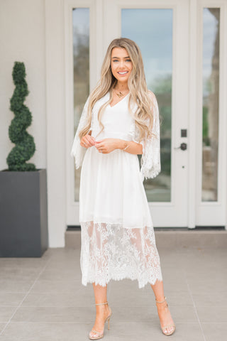 Frosted Lace Dress - llacie
