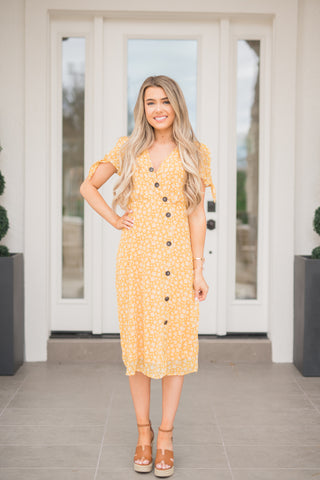 Honey Flower Midi Dress - llacie