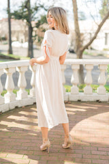 Oatmeal Bow Sleeve Dress - llacie