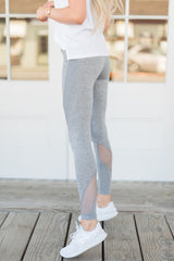 Active Mid-Rise Grey Leggings - llacie