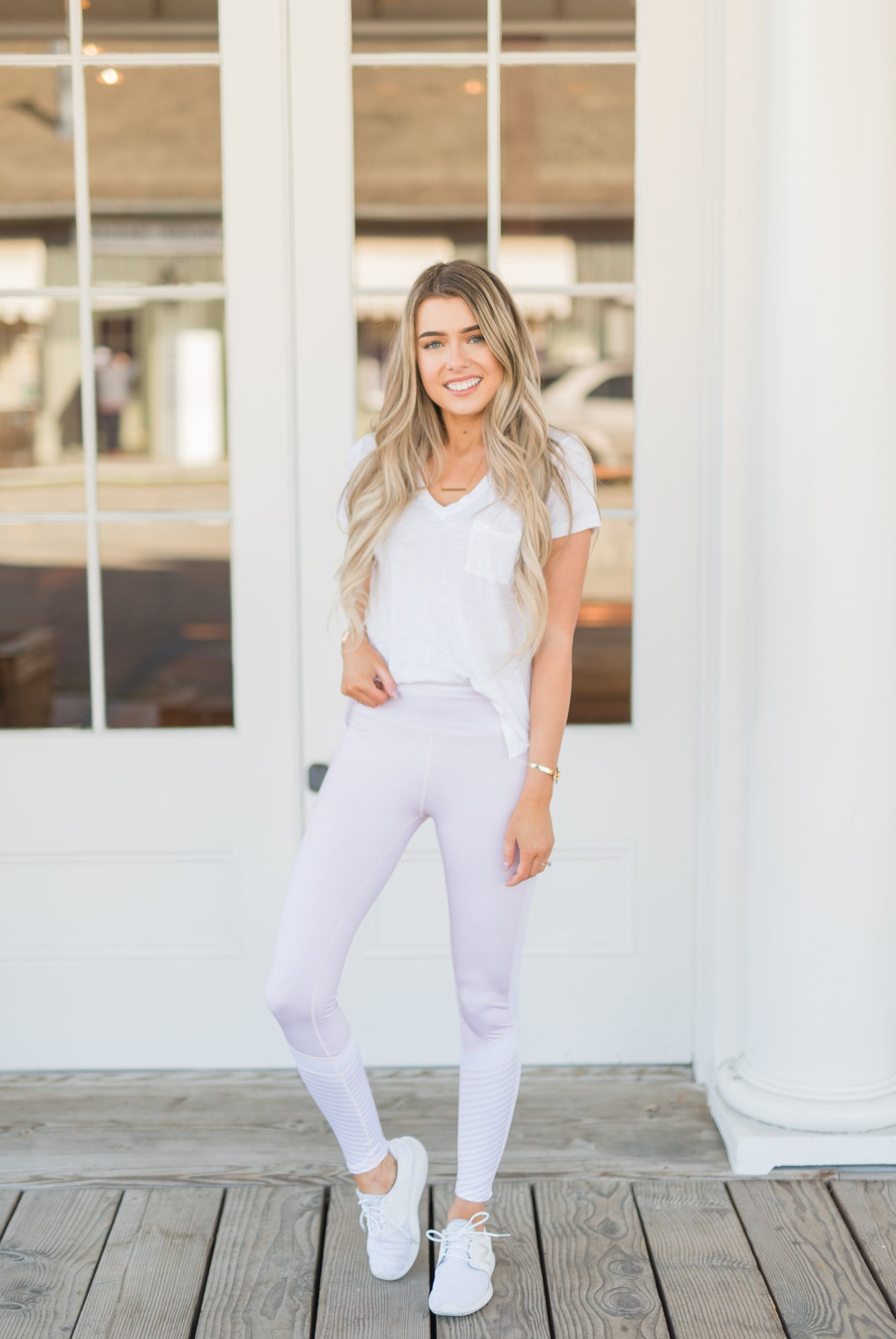 Active Mid-Rise Pink Leggings - llacie
