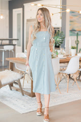 Sage Stripe Belted Dress - llacie
