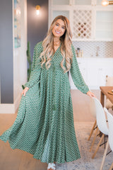 Emerald Diamond Maxi Dress - llacie