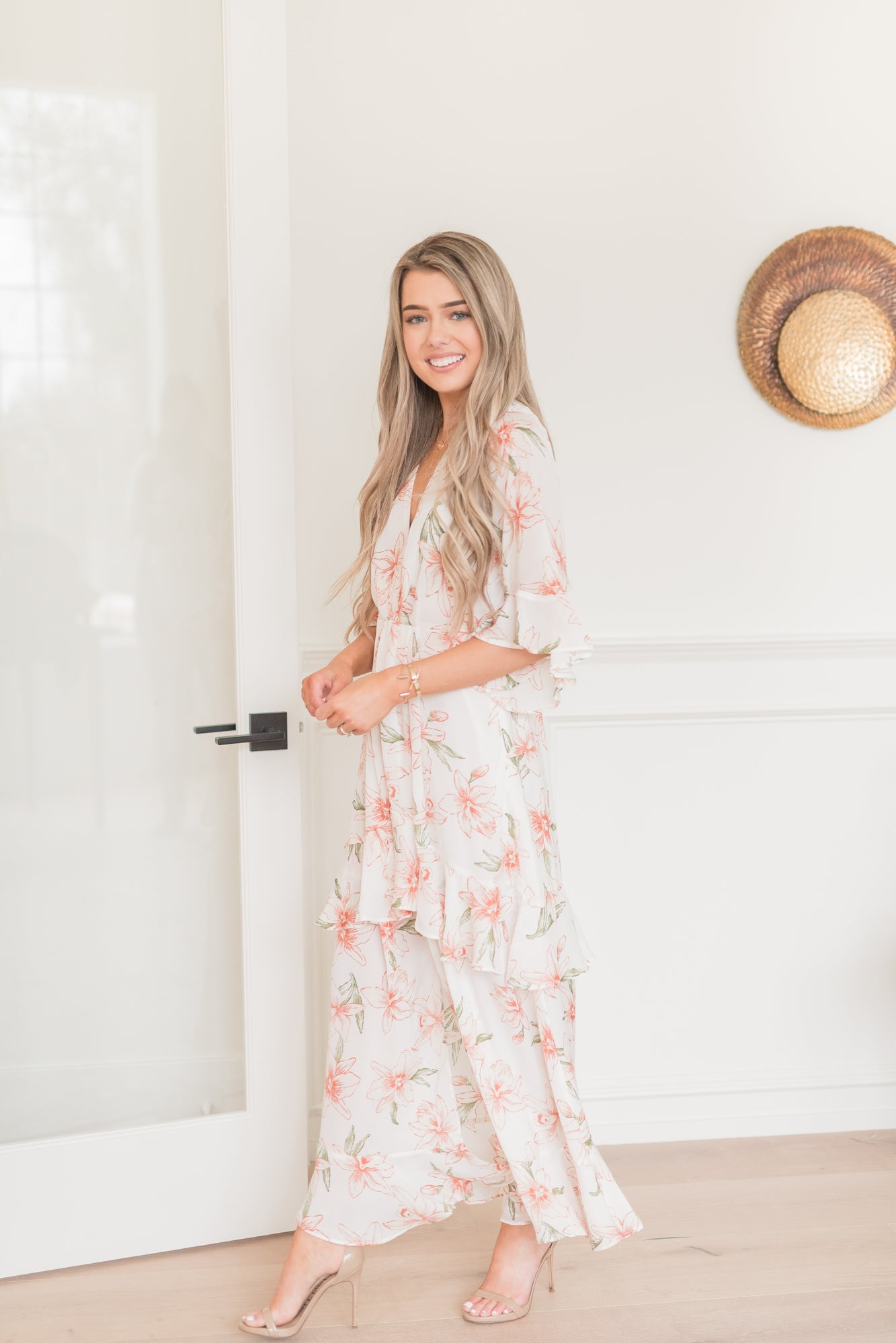 Romantic Floral Ruffle Dress - llacie