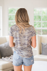 Camo Side Pocket Tee - llacie