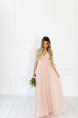 DIANNA FLOWY BLUSH DRESS - llacie
