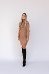Hunter Caramel Sweater Dress | LLACIE