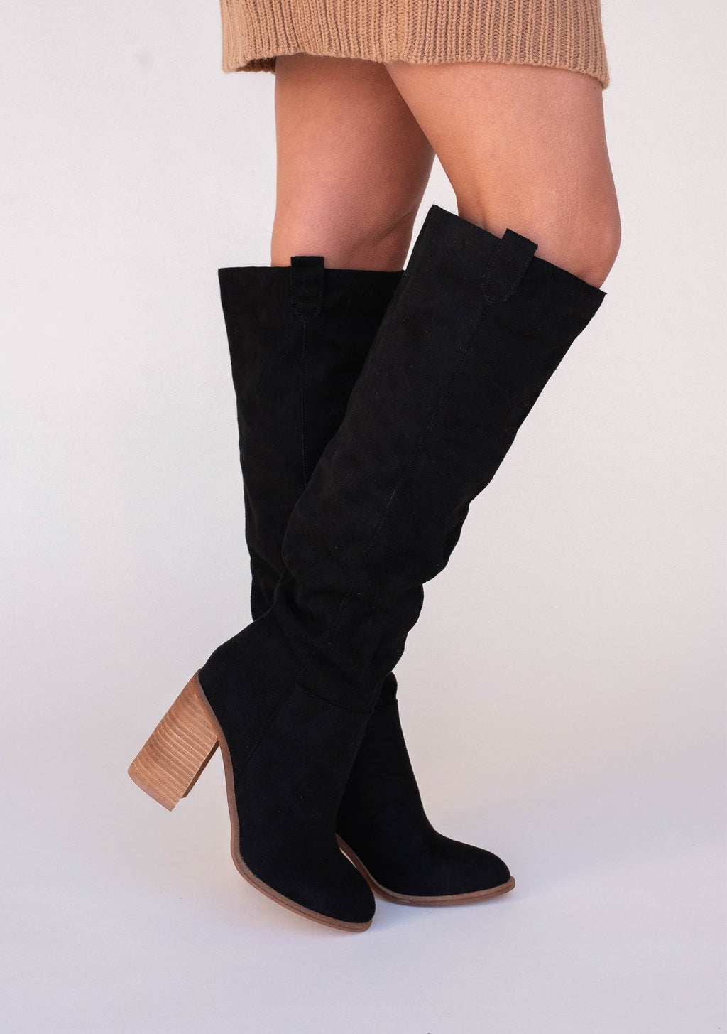 Claudia Knee Boots | Black | LLACIE