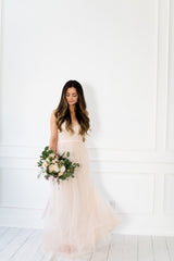 TIANA TULLE AND LACE DRESS