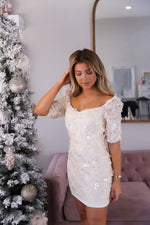 Kai Cream Sequin Dress- FINAL SALE