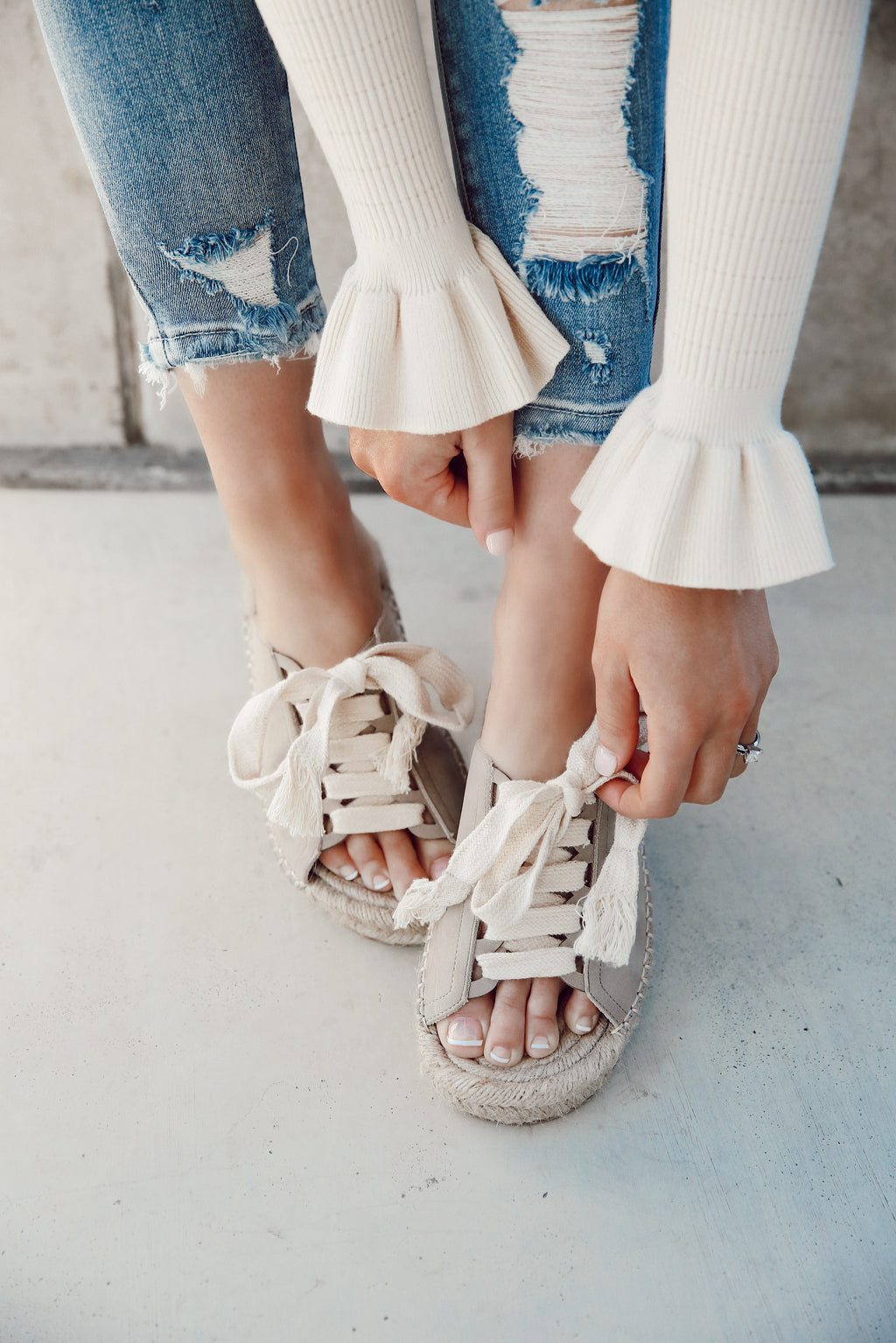 Elsie Lace Up Sandals