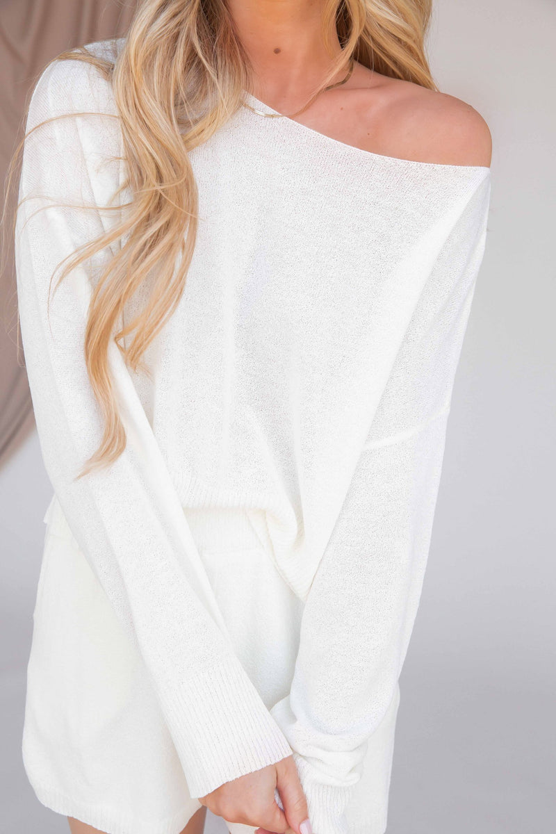 Relaxing Weekend Light Knit Top - LLACIE